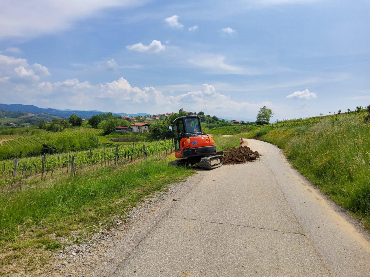 Novi kilometri trase omrežja RUNE v občini Brda