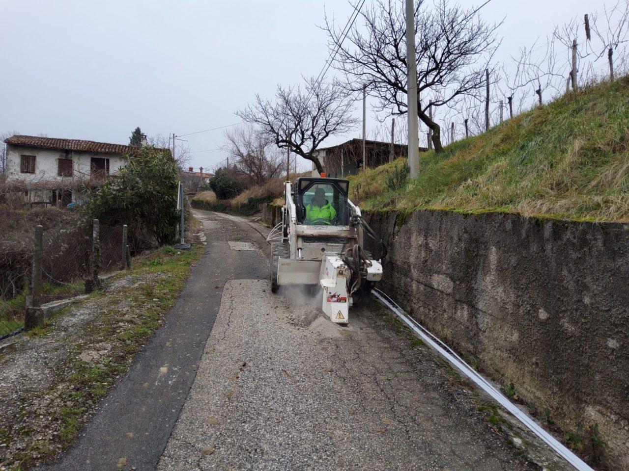 Gradnja omrežja RUNE v naselju Višnjevik