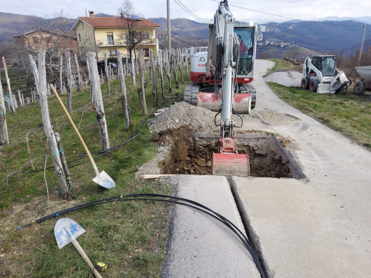 Trasa omrežja RUNE, ki gre iz Višnjevika proti Krasnem
